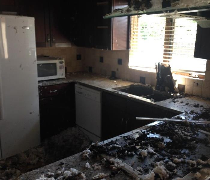 Kitchen Fire Before and After Before